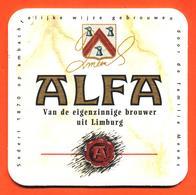 Sous Bock - Coaster Bière Alfa Limburg Holland Beer Bière Pays Bas - Beer Mats