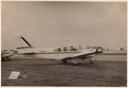 Photo Originale Format CP Avion Aviation Beech C55 Baron Gosselies 1967 - Aviación