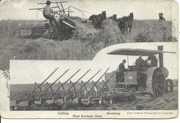 1910 - Cutting, Breaking, Near Rouleau, Saskatchewan, Publ. By Lewis Rice (D136) - Saskatchewan