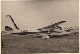 Photo Originale Format CP Avion Aviation Aero Grand Commander Gosselies 1967 - Aviación