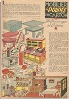 ANCIEN ARTICLE De PRESSE 1953 - MODELE De FABRICATION MOBILIER De POUPÉE En CARTON - DINETTE CUISINIERE TABLE BUFFET - Other Collections