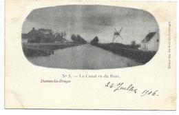 Damme-lez-Bruges   *  Le Canal Vu Du Pont (Moulin) - Damme