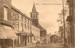 Belgique - Charleroi - Roux : La Place Communale Et L' Eglise - Charleroi