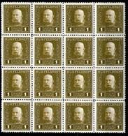 Austria,1915,1 H,Mi#22A,Y&T#22,MNH * *,16 Pieces,as Scan - Unused Stamps