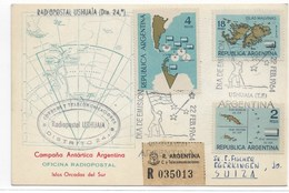 9 - ARGENTINE PO682/683 - PA97 Du 22 FEB 1964 1er Jour Sur Carte Recommandée Pour La SUISSE Avec Certificat. - Argentine