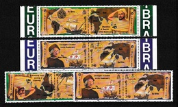 1992 Gibilterra Gibraltar EUROPA CEPT EUROPE 2 Serie (coppie) MNH** SCOPERTA DELL'AMERICA - DISCOVERY OF AMERICA - Europa-CEPT