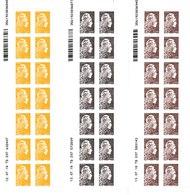 3 Coins Datés De 14 Timbres Type Marianne L'Engagée 0,01 € 0,05 € 0,10 € - Adhésifs Entreprise - France 2018 - Dated Corners