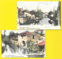 PONS 2 Cpa Colorisées Le Moulin Et La Seugne (Guillier) Chte Mme (17) - Pons
