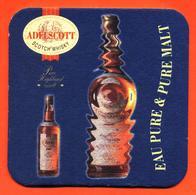 Sous Bock - Coaster Bière Adelscott Eau Pure Et Pure Malt D'alsace - Beer Mats