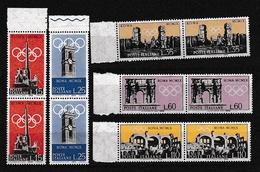 1959 Italia Italy Repubblica PREOLIMPICA 2 Serie Di 5v. MNH** Coppia Pre-Olympic - 6. 1946-.. Republic