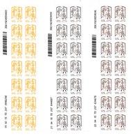 3 Coins Datés De 14 Timbres Type Marianne Et La Jeunesse - N° 847-848-849 (Yvert) - Adhésifs Entreprises - France 2015 - Coins Datés