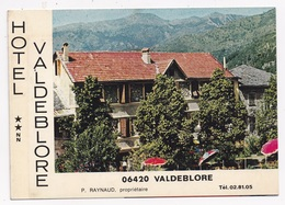 CP PUBLICITAIRE DOUBLE 06 VALDEBLORE Hotel Valdeblore - Autres Communes