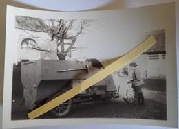 1914 1915 Lanel ? Pas De Calais Automitrailleuse Canon 37 Mm Peugeot Marins Poilu Tranchée 1914-1918 Ww1  2 Photos - Guerra, Militari