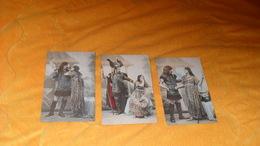 LOT 3 CARTES POSTALES ANCIENNES NON CIRCULEES DATE ?../ SCENE COUPLE GAULOIS ?... - Couples
