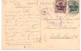 Belgique OC N° 11 Et 12 Sur Carte Postale De Scherpenheuvel - Censure De Bruxelles - Guerra 14 – 18