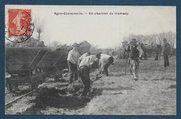 AGON - COUTAINVILLE - Un Chantier Du Tramway - Autres Communes
