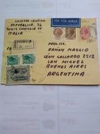 Italy Cartolina Raccomandata Con Molti Fblli Adizionale De Chioggia A Argentina Anno 1974 Unica - 6. 1946-.. Repubblica