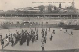 A18- FUENTERRABIA (ESPAGNE)  INTERIOR DE LA PLAZA DE TOROS - (TRES ANIMEE - 2 SCANS) - Guipúzcoa (San Sebastián)