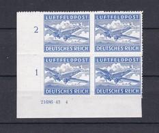 Deutsches Reich - Feldpostmarken -  1942/43- Michel Nr. 1 B HAN - Eckrandviererblock - Postfrisch - Unused Stamps