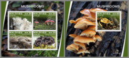 MALDIVES 2019 MNH Mushrooms Pilze Champignons M/S+S/S - OFFICIAL ISSUE - DH2002 - Funghi