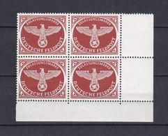 Deutsches Reich - Feldpostmarken -  1942/43 - Michel Nr. 2 A - Eckrandviererblock - Postfrisch - Unused Stamps