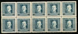 Austria,1917,80 H,Mi#67A,Y&T#63,MNH * *,10 Pieces,as Scan - Unused Stamps