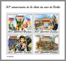TOGO 2019 MNH 30 Years Fall Of Berlin Wall Fall Berliner Mauer Mur De Berlin M/S - OFFICIAL ISSUE - DH2002 - Historia