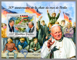TOGO 2019 MNH Ronald Reagan Mikhail Gorbachev Pope John-Paul II. Fall Of Berlin Wall S/S - OFFICIAL ISSUE - DH2002 - Celebridades
