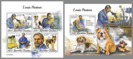 TOGO 2019 MNH Louis Pasteur Microbiology Dogs Hunde Chiens M/S+S/S - OFFICIAL ISSUE - DH2002 - Chemistry