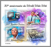 TOGO 2019 MNH 30 Years WWW World Wide Web Internet M/S - OFFICIAL ISSUE - DH2002 - Informatica