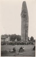 """CARTE PHOTO (13x8.5 Cm):FOULE AUTOUR DU MONUMENT """" LA CAROTTE"""" MONDEMENT (51) PHOTO DE ANDRÉ ALIBERT - Frankreich"""