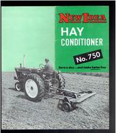 LOT 2 DOCUMENTS NEW IDEA FARM EQUIPMENT COMPANY COLDWATER OHIO HAY CONDITIONER HARVESTER SHREDDER - Tracteurs