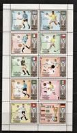 (077) Sharjah--Kleinbogen Mi.-Nr. 1142/ 51 A,, **/ MNH, Fußball München 1972 - Timbres