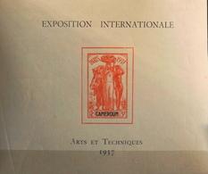 France (ex-colonies & Protectorats) > Cameroun (1915-1959) > 1937 - Bloc N° 1 - Neuf** - Neufs