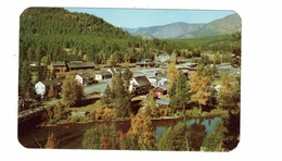 KINGSPORT, British Columbia, Canada, USA - Canada Border, Railroad Station, Old Chrome Postcard - Sonstige