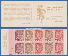 SWEDEN 1966 THEATRE ANNIVERSARY BOOKLET SWEDISH TEXT SHEET CONTROL No. FACIT H 180 A 2 - 1951-80