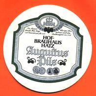 Sous Bock - Coaster Bière Hof Brauhaus Hatz Auguftus Pils Bière D'allemagne - Beer Mats