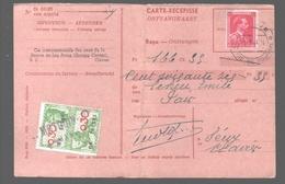 Timbre Fiscal 0,30 Fr. Sur Carte Récépissé / Ontvangkaart - Obl. Modave - Compagnie Intercommunale Des Eaux Clavier - Fiscaux