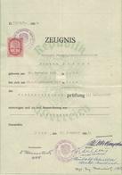 Dokument 1954, Zeugnis Verkehrsdienstprüfung Der Post, 6 Schilling Stempelmarke, Dokument Gefaltet - Historische Dokumente