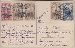 Türkei/Albanien - 6 Pa. Freimarke U.a. Karte Skutari - Berlin 1914 - Albania