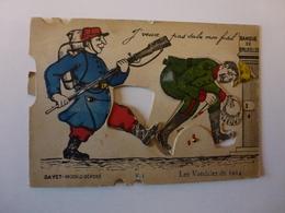 CPA A SYSTEME LES VANDALES DE 1914, VOIR SCAN - Cartoline Con Meccanismi