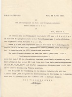 Dokument 1935, Beförderungsschreiben Der Post, Dokument Gefaltet - Historische Dokumente