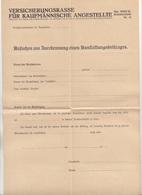 Dokument 1926?, Leeres Formular Ansuchen Um Zuerkennung Des Ausstattungsbetrages, Dokument Gefaltet - Historische Dokumente