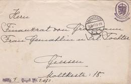 GERMANY ENVELOPE CIRCULATED 1917. DARMSTADT TO MOLTKESTR. GROßHERZOGLICHE ANGELEGENHEIT -LILHU - Allemagne
