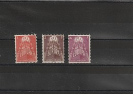 Luxembourg 1957 N° 531 532 Et 533 - Europa-CEPT