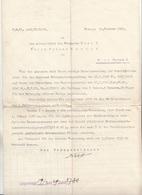 Schreiben Der Post An Den Amtsgehilfen 1929 Mit Anrechnung Der Vordienstzeiten, Dokument Gefaltet - Historische Dokumente