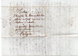 """FRANCE : MP  . """" 16 SAINTES """" . TAXEE . 1807 .POUR UN OFFICIER DU 5 ème CORPS DE LA GRANDE ARMÉE . - 1801-1848: Précurseurs XIX"""