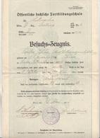 Dokument 1916, Zeugnis Der Öffentlich Fachliche Fortbildungsschule, Dokument Gefaltet - Historische Dokumente