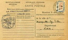 Carte De Ravitaillement, Mairie De LA FRETTE Sur Seine (Seine Et Oise) - Cachet à Date Du  11 Septembre 1946 - Marcophilie (Lettres)