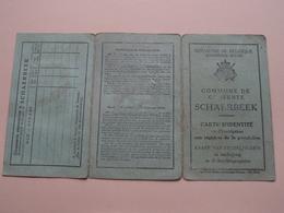 Carte Identité Belgique ( DEKEUWER Charles - Wijtschaete 8 Oct 1890 ) Anno 1919 - Gemeente SCHAERBEEK N° 25411 ! - Vecchi Documenti